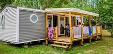 location mobil home luxe Landes