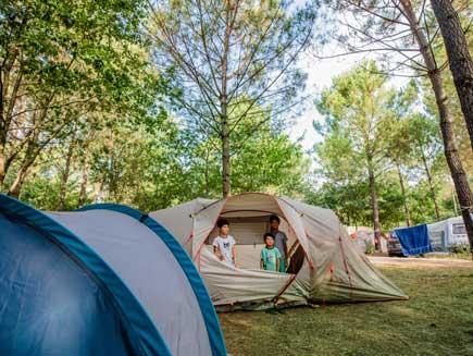 emplacement de camping dans les Landes