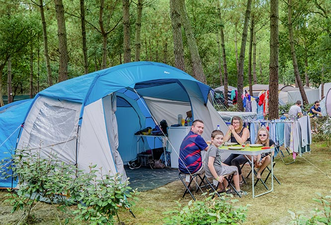 location camping ondres