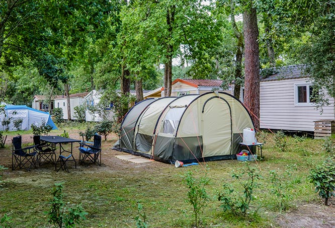 camping pitches landes