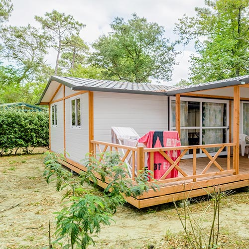 rental campsite in the Landes