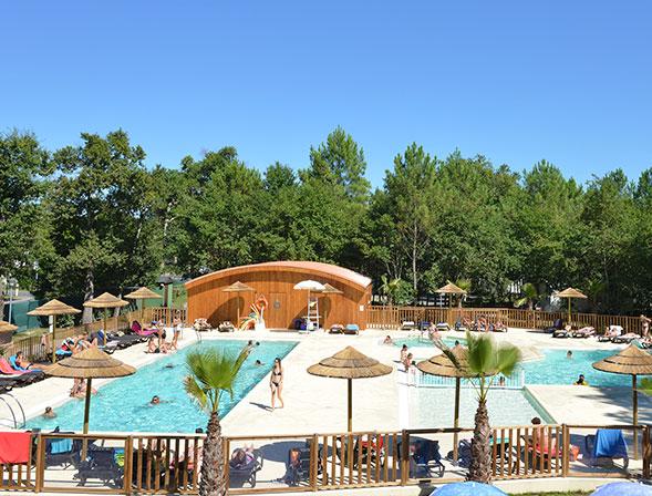 piscines camping landes