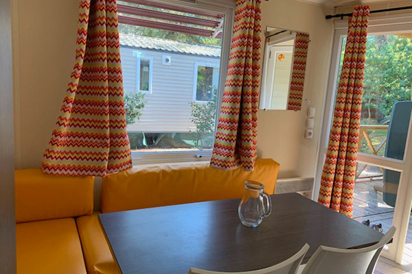 rental of mobile homes for 4 people in the Landes